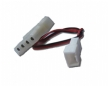 4-pin Molex Female and Female to 3-pin Male Fan Power Cable