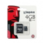 Kingston 4GB Micro SDHC Flash Card Model SDC4/4GB