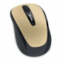 Microsoft Wireless Mobile Mouse 3500 GMF-00046 Gold 1 x Wheel USB RF Wireless BlueTrack Mouse
