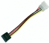 6inch SATA 15pin Female to Molex 4pin Male Power Adapter